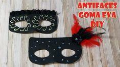 Cómo hacer antifaces de goma eva DIY. Muy fáciles. Con plumas, cintas y ... Diy, Halloween, Youtube, Craft Stores, Feathers, Jelly Beans, How To Make, Bias Tape, Bricolage