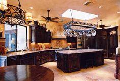 Mediteranian kitchen with gorgeous dark cabinets