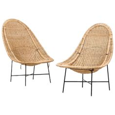 Kerstin Hörlin-Holmquist Easy Chairs Model Stora Kraal | From a unique collection of antique and modern lounge chairs at https://www.1stdibs.com/furniture/seating/lounge-chairs/