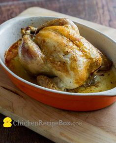 Oven Roast Baked Whole Chicken Recipe