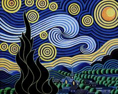 After Van Gogh The Starry Night Painting -- By: Bruce Bodden --- #17 of 26 --- found at FineArtAmerican website