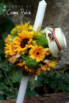 Lumanare traditionala Wedding Ideas, Traditional, Popular, Table Decorations, Weddings, Flowers, Baby, Handmade, Fashion