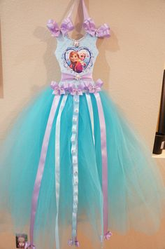 Hey, I found this really awesome Etsy listing at https://www.etsy.com/listing/194712925/frozen-theme-extra-long-tutu-bow-and