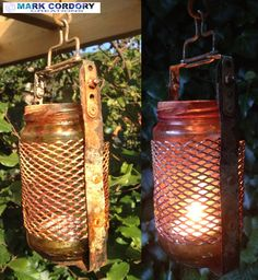 Post Apocalyptic LARP - jam jar lantern Mark Cordory Creations. www.markcordory.com