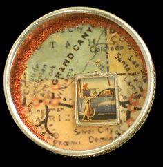 Miniature Altered Tin by Donna Howard ... LOVE mixed media. I do mixed media!