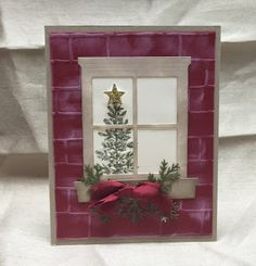 Stamp with Anna; Stampin Up, Brick Wall embossing folder, Hearth and Home, Christmas, Holiday