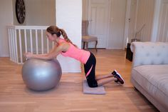 Fotball Frue's 5 favourite exercises with a fitness ball, #fitnessball, #Fitness, #exercise