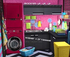 """Sturdy Stacked Washer + Dryer""""Another deco item I abuse the hell out of in TS2 since I play VERY small lots (1x1, 1x2, 2x2, 2x1, very rarely any 1x3, 3x3, 3x3) and I space save like no other. Jessa..."""