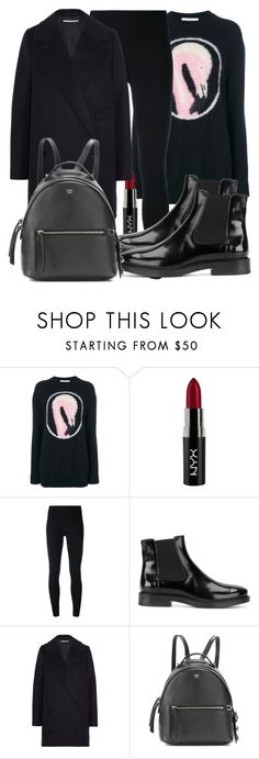 """""""Untitled #5182"""" by beatrizvilar on Polyvore featuring Givenchy, NYX, Y-3, Tod's, STELLA McCARTNEY and Fendi"""