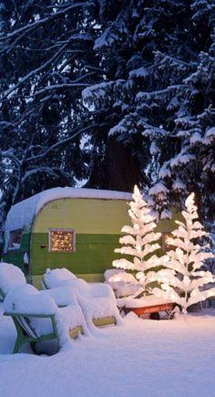 Glowing in the snow near Spokane, Washington • photo: John Granen on The Farm Chicks