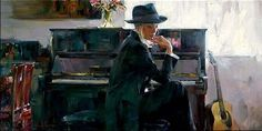 Several years after their marriage, Mr. Garmash began a painting of their two-year old daughter, Polina, for a project at school. Description from remingtonsfineart.com. I searched for this on bing.com/images