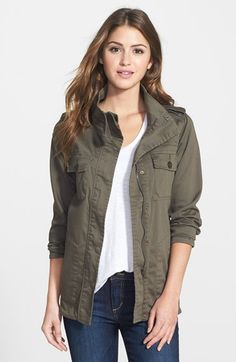 (medium, olive green) Press Lightweight Stretch Cotton Military Jacket available at #Nordstrom