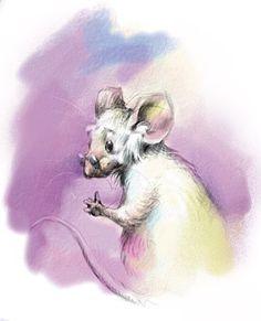 art, spot illustration, animal, mouse, //  Anton Petrov