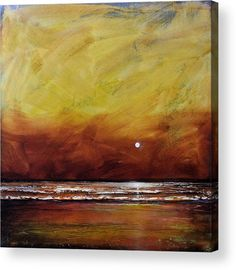 Gold Acrylic Print featuring the painting Drama Ocean by Toni Grote