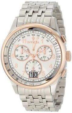 Invicta Men's 10750 Vintage Chronograph Silver Dial Watch
