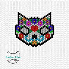 Un petit diagramme... Bon mardi les gens! #jenfiledesperlesetjassume #miyukibeads #miyuki #perlesaddictanonymes #perle #diagrammeperles #beadpattern #catstagram #cat  #chat #motifpauline_eline #brickstitch