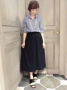 Abahouse Devinette梅田大丸店|おーちゃんさんのスカートを使ったコーディネート - ZOZOTOWN