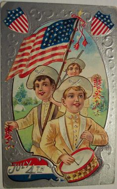 Vintage Postcard - 4th of July | Flickr - Photo Sharing!