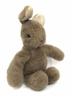 Vintage Gund Bunny Rabbit Tales Brown Plush Stuffed Animal Toy 1985  | eBay