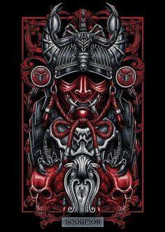 Here're my first series T shirt illustration i did for local brand called Blacklimited from Bangkok Thailand.C&C are welcome Mais Dark Fantasy Art, Dark Art, Zodiac Art, Zodiac Signs, Samourai Tattoo, Filipino Tattoos, Arte Obscura, Samurai Art, Skull Art