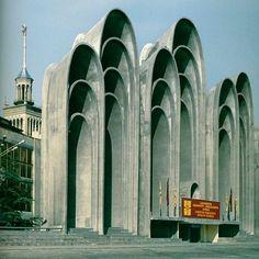 💕🗿 Andropov's Ears (demolished in 2005), Tbilisi, Georgia.  Architect: O.Kalandarishvili / G. Potskhishvili Photographer: Frédéric Chaubin Via: architectuul.com #art #artist #architect #archilovers #architecture #architectureporn #architecturephotography #architecturelovers #awesome #brut #brutal #brutalism #brutalist #brutalismarchitecture #beautiful #perfect #raw #concrete #minimalism #style #details #design #dope #graphic #geometric #structure #monument #georgia #tbilisi
