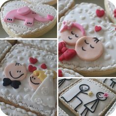 Who can make these for me?  I need two bride and groom cookies and a whole bunch of the stick figure ones, but maybe as a bride and groom, not engagement.