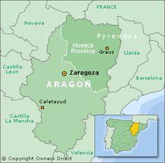 Spain Map Aragon