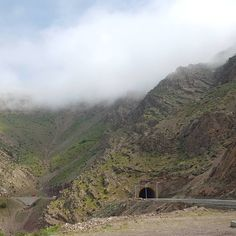 Tunnel carved into the amazing Mountains of the Province Kurdistan, Iran.
