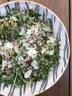 Truffled Farro Mushroom Salad + Blouse on Repeat - Designer Bags & Dirty Diapers