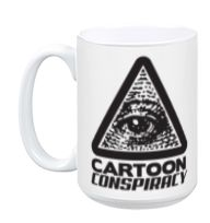 Cartoon Conspiracy White Mug