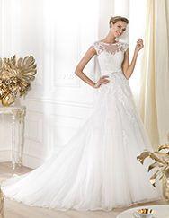 Pronovias presents the Lianna wedding dress. Glamour 2014.   Pronovias