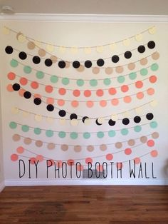 DIY photo booth wall