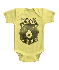 Look what I found on #zulily! Banana 'Bear with Me' Bodysuit - Infant #zulilyfinds