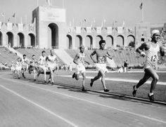 Leaders in the Marathon, before leaving the L. Coliseum, none of whom finished with Medals with eventual winner Juan Carlos Zabala (Argentina) unsighted at this point Olympics News, Summer Olympics, Trieste, Helsinki, Rotterdam, Ancient Olympics, Olympic Marathon, Olympic Venues, Olympic Flame
