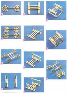 Домики из спичек схемы для начинающих с клеем