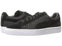 PUMA PUMA - SUEDE CLASSIC EMBOSS V2 (PUMA BLACK) MEN'S SHOES. #puma #shoes #