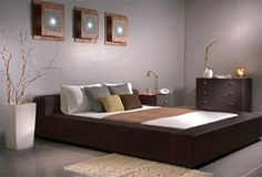 Feng Shui bedroom colors, The Chinese believe that the energy emitted out of the surrounding objects like bedroom furniture affect one's mood. Feng shui bedroom colors will help provide the best mood Modern Bedroom Furniture, Brown Furniture, Modern Bedroom Design, Modern Bedrooms, Contemporary Bedroom, Ikea Furniture, Modern Interior, Gray Interior, Girls Furniture