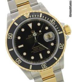 Rolex Submariner 18K Yellow Gold & Stainless Steel Watch 16613