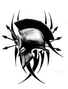 spartan helmet tattoo | tattoo | Pinterest | Spartan Helmet Tattoo ...