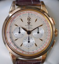 This is a beautiful, mint condition rose gold chronograph, produced in 2011. It…