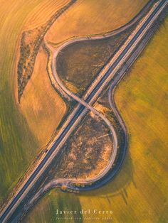 Meander - Curved roads to drive, fields to walk on... Aerial photography of a road taken with a drone DJI Phantom 3 Professional.