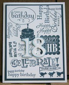Stampin Up 18th Birthday 1