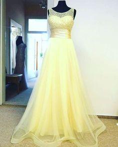 Yellow Prom Dress,Bodice Prom Dress,Fashion Prom Dress,Sexy Party