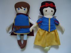 Snow White and Prince Charming Fabric doll/Rag Doll
