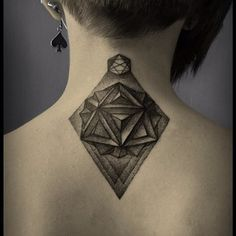 3D Diamond | 50 Seriously Impressive Dotwork Tattoos