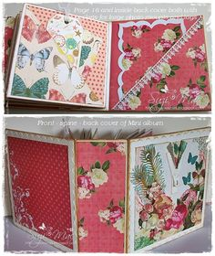 Suzi Mac Creations : Mini Albums - my other passion Mini Scrapbook Albums, Mini Albums, Memories Photo Album, Websters Pages, Memory Album, Journal Cards, Junk Journal, Mini Photo, Handmade Books