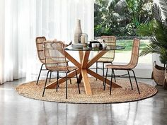 From terrazzo tiles to candlewick bedspreads, it's time to raid Nana's house for decor inspiration. Rug Under Dining Table, Table And Chairs, Dining Chairs, Rustic Kitchen Decor, Minimalist Home Decor, Home Decor Accessories, Outdoor Furniture Sets, Room Decor, Interior
