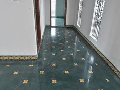 Encaustic Cement Tiles Gallery – Google Drive Indian Home Design, My Home Design, Home Interior Design, House Design, Ethnic Home Decor, Indian Home Decor, Traditional Front Doors, Traditional House, Chettinad House