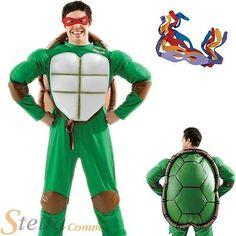 Mens teenage mutant ninja turtles fancy #dress/halloween #costume - all 4 #masks,  View more on the LINK: http://www.zeppy.io/product/gb/2/222202291374/