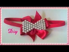 Laço de pérolas com strass DIY \ Tie pearl DIY - YouTube